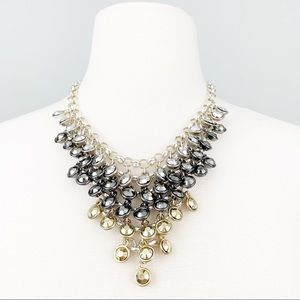 STEVE MADDEN Tri-Color Bib Statement Necklace